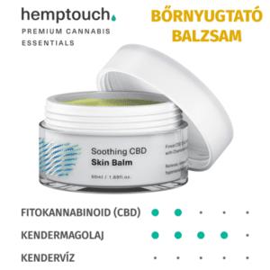 Kendertér - NYUGTATÓ CBD BŐRBALZSAM / Soothing CBD skin balm (50 ml) - hemptouch budapest soothing CBD bornyugtato balzsam 300x300