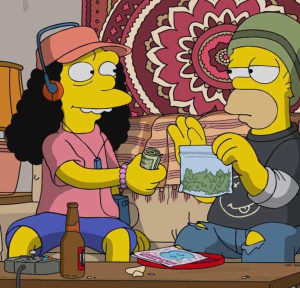 Kendertér - Homer és Marge legális kannabiszt árulnak a legújabb Simpsons epizódban - Simpsons Sell Cannabis 1024x576 600x576