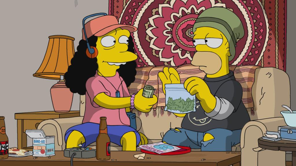 Kendertér - Homer és Marge legális kannabiszt árulnak a legújabb Simpsons epizódban - Simpsons Sell Cannabis 1024x576