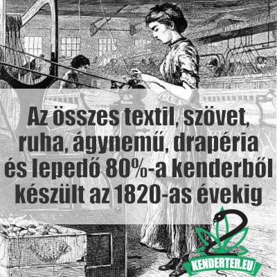 Kendertér - Az összes textil 80%-a kenderből készült - textil szovet 400x400