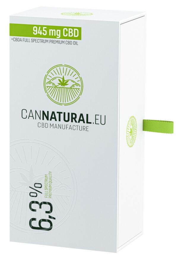 Cannatural CBD olaj 6,3% 10ml - doboz - Kendertér
