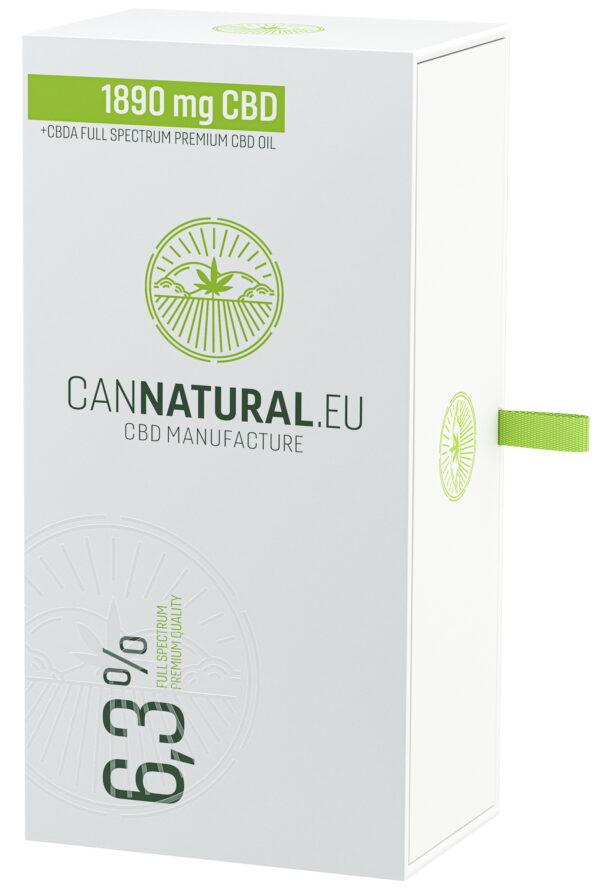Cannatural CBD olaj 6,3% 30ml - doboz - Kendertér