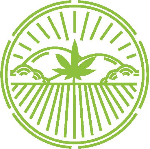 Kendertér - cannatural kerek logo kenderter