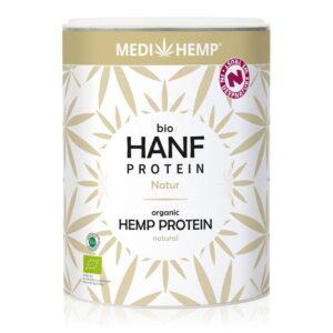 Kendertér - MediHemp Bio natúr kenderprotein - hanfprotein natur 330g 750 300x300