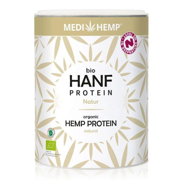 Kendertér - MediHemp Bio natúr kenderprotein - hanfprotein natur 330g 750 600x600