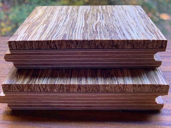 Kendertér - hemp wood flooring stacked