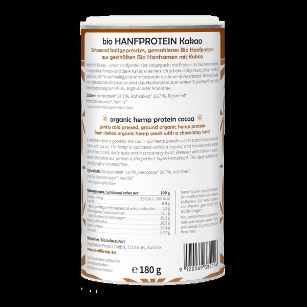 MediHemp Bio ízesített kenderprotein