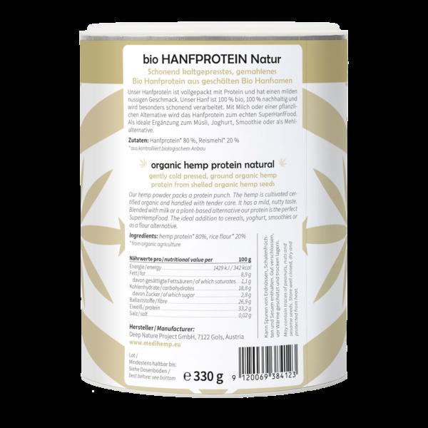 MediHemp Bio natúr kenderprotein