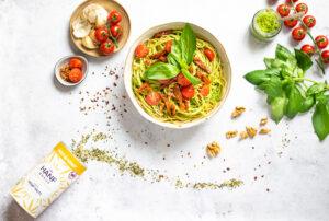 Kenderpesztós Spaghetti due pomodori