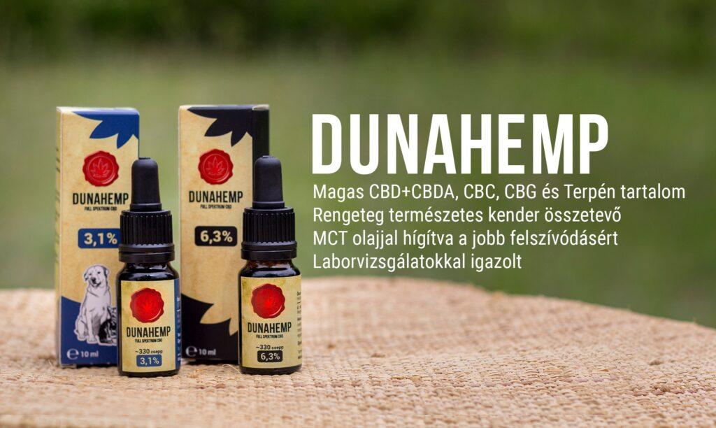 Kendertér - Dunahemp - CBD olajok