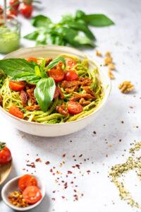 Kendertér - Neben Rezept pasta Pesto veganese 200x300