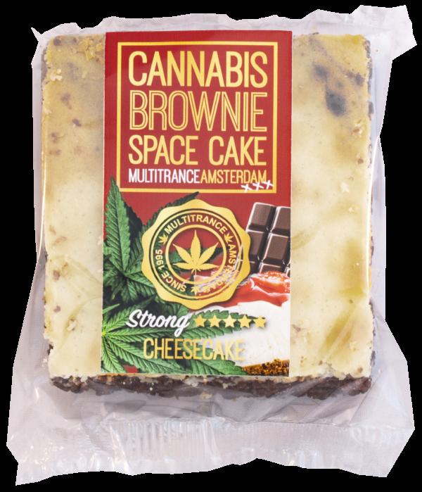 Sajttortás kannabisz brownie (erős Sativa ízesítéssel)