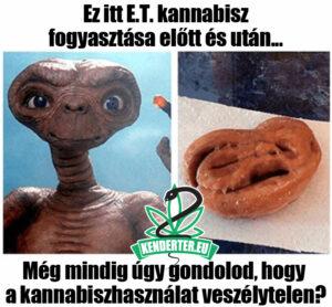 E.T. kannabisz használta