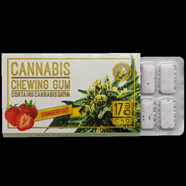 Kannabiszos epres rágógumi (17mg CBD)