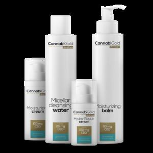 CannabiGold - Arcápoló Kozmetikai Csomag - Száraz és Érzékeny Bőrtípusra