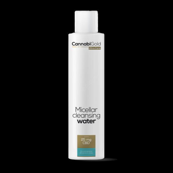 CannabiGold – Micellás arclemosó – száraz, érzékeny, atópiás bőrre (200 ml // 25 mg CBD)