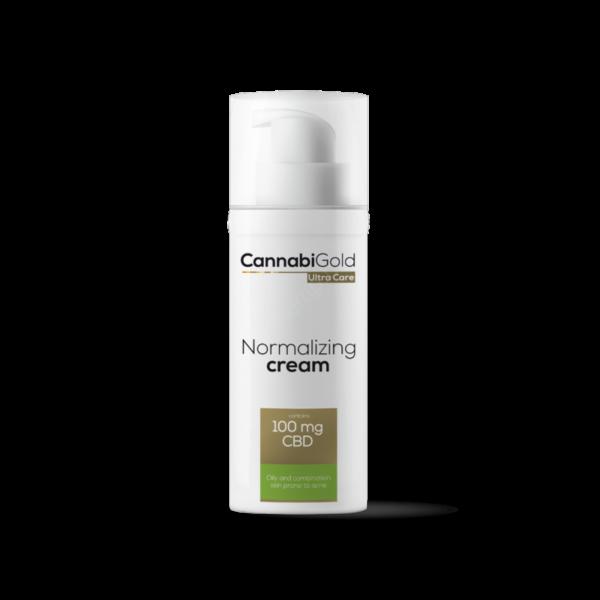 CannabiGold – Normalizing arckrém – zsíros, vegyes, aknéra hajlamos bőrre (50 ml // 25 mg CBD)